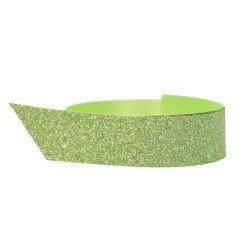 Polyband glitter grön