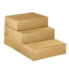 Presentlåda/flasklåda linnepräglat guld