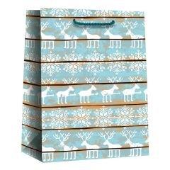 Papperskasse Blue reindeer
