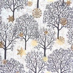 Presentpapper Fall trees white FSC
