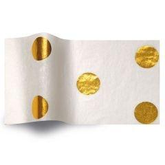 Silkespapper Satin Guld Hot Spots