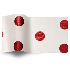 Silkespapper Satin Röd Hot Spots