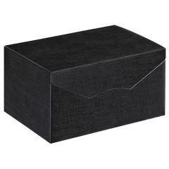 Presentkartong linnepräglad svart