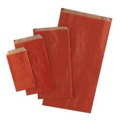 Plan papperspåse röd