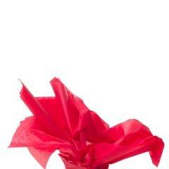Färgat silkespapper körsbär