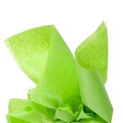 Färgat silkespapper lime