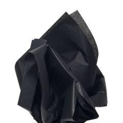 Färgat silkespapper svart