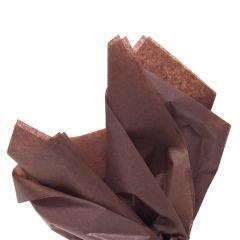 Färgat silkespapper chokladbrun