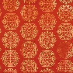 Presentpapper Polygon röd
