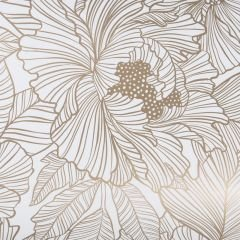 Presentpapper Marquet flower, gold FSC