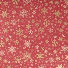 Presentpapper Red kraft golden stars