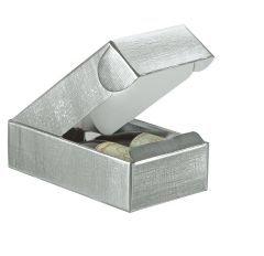 Presentlåda/flasklåda linnepräglad silver