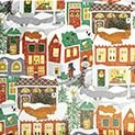 Presentpapper Christmas in town