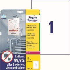 Antimikrobiella etiketter