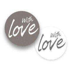 Etikett rund With love