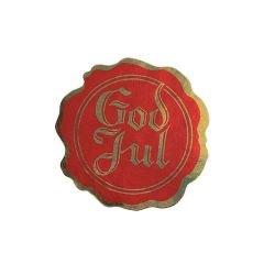 God Jul sigill röd/guld