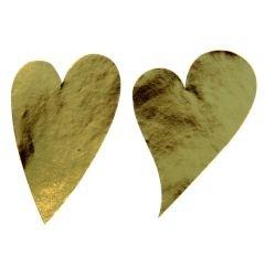 Etikett hjärta sneda guld