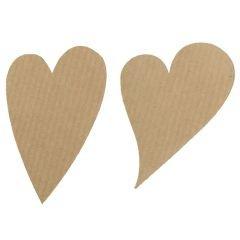 Etikett hjärta sneda natur ribbad