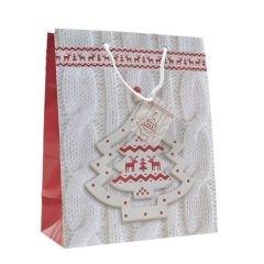 Pappersbärkasse Christmas Tree White