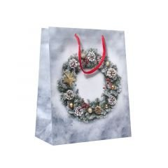 Presentpåse Christmas wreath
