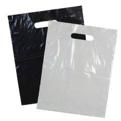 Plastkasse med utstansat handtag vit