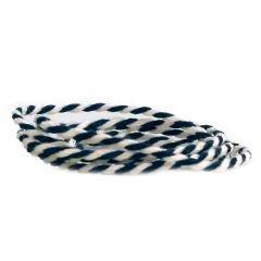 Textilgarn 2-färg svart/vit